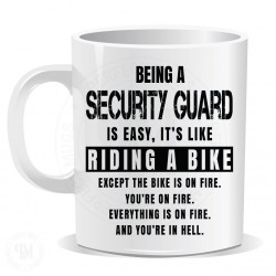 Being a Security Guard Easy It is Like Riding a Bike Mug
