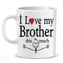 I Love My Brother This Much Mug