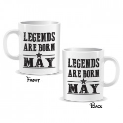 Legends Are Born May Mug