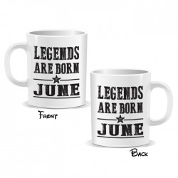 Legends Are Born June Mug