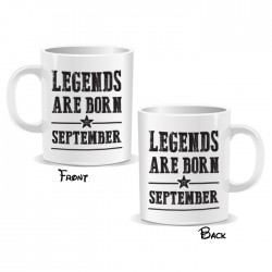 Legends Are Born September Mug