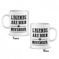 Legends Are Born November Mug