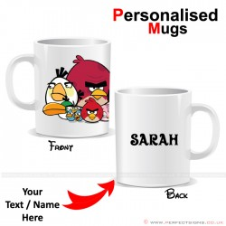 Angry Bird Team Cartoon Personalised Mug