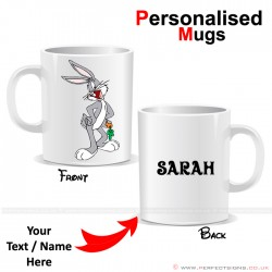 Bugs Bunny Carrot Cartoon Character Personalised Mug