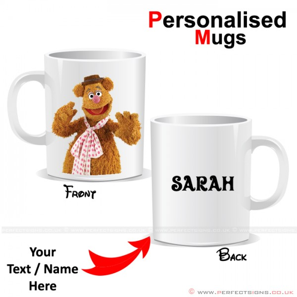 Fozzie Bear Muppet Cartoon Character Personalised Mug