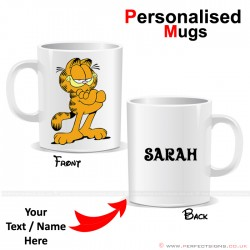 Garfield Cat Cartoon Character Personalised Mug