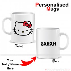 Hello Kitty Face Cartoon Character Personalised Mug