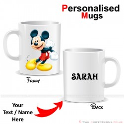 Mickey Mouse Cartoon Character Personalised Mug
