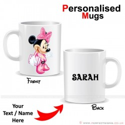 Minnie Mouse Cartoon Character Personalised Mug