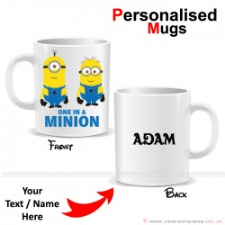 DESPICABLE ME Minions Cartoon Character Personalised Mug