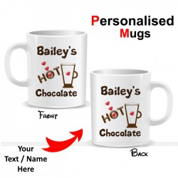 Hot Chocolate Heart Personalised Mug