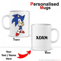 Sonic Disney Cartoon Character Personalised Printed Mug