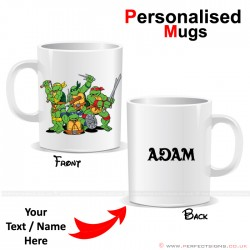 Ninja Turtles Disney Cartoon Character Personalised Printed Mug