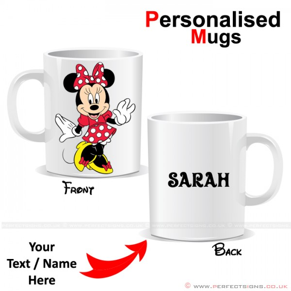 Minnie Mouse Red Disney Cartoon Character Personalised Printed Mug