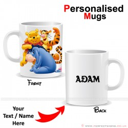 Winnie The Pooh Disney Cartoon Character Personalised Printed Mug
