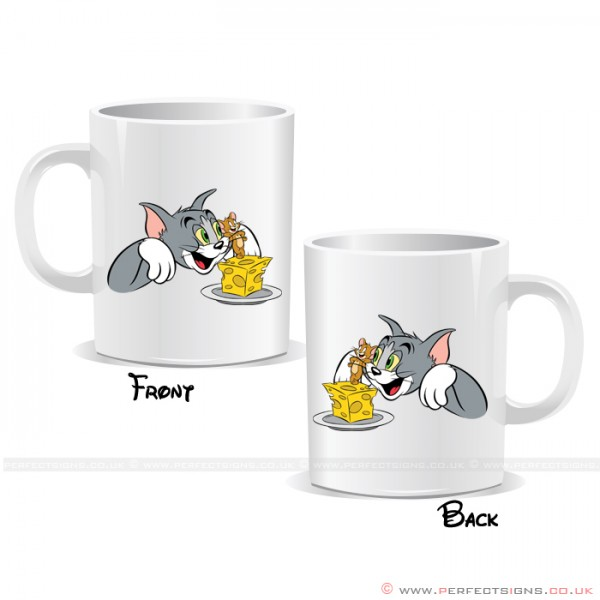 Tom & Jerry Cheese Characters Personalised Mug