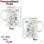 Personalised Father and Child Mug