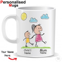 Personalised Mother and Child Mug