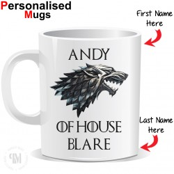 Personalised Game of Thrones House Strak Mug