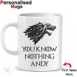 Personalised Game of Thrones You Know Nothing Mug