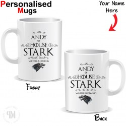 Personalised Game of Thrones Winter is Coming Mug