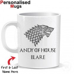 Personalised Game of Thrones House Stark Winter Mug