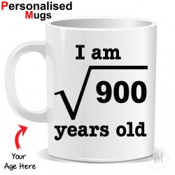 Personalised Your Age Mug