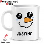 Personalized  Snowman Face Mug
