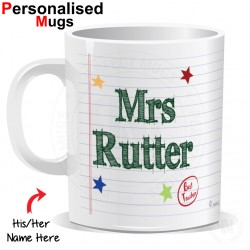Personalised Teacher Name Mug