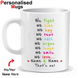 Personalised We love We Fight Mug