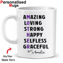 Personalised Mothers Day Amazing Loving Strong Mother Mug