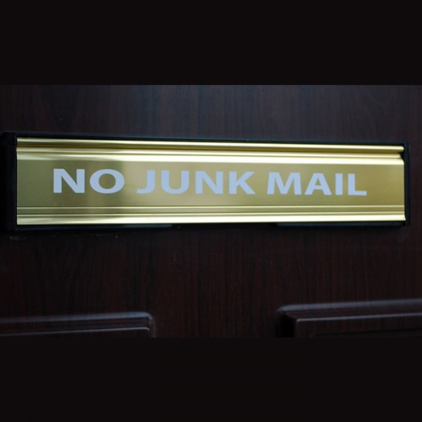 No Junk Mail Sticker