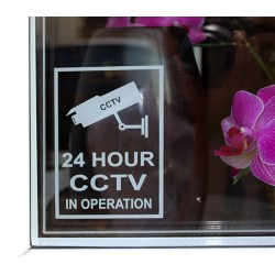 24 Hour CCTV In Operation Sticker
