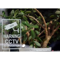 Warning CCTV In Operation Sticker