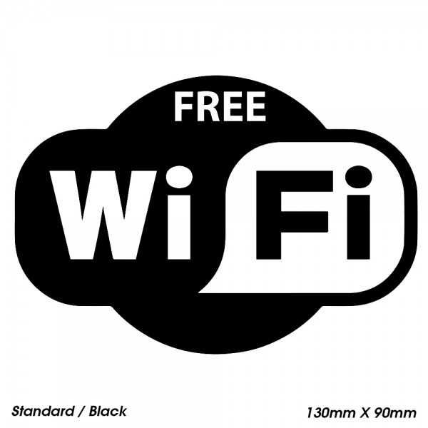 FREE WiFi Large Sticker