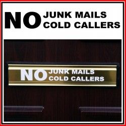 No Junk Mails Cold Callers Sticker