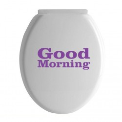 Good Morning Toilet Seat Lid Sticker