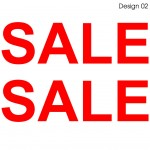 2 X SALE Sign Stickers