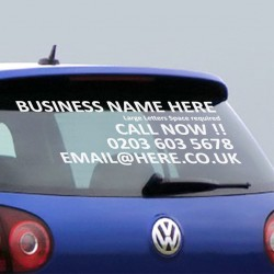 Personalised Business Rear Window Car & Van Stickers
