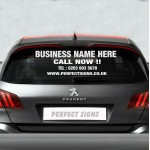 Personalised Business Rear Window Vehicle Stickers