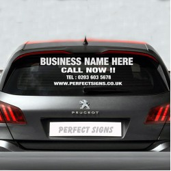 Personalised Business Rear Window Car Van Advertising Vinyl Signs Stickers