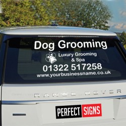 Personalised Dog Pet Groom Walk Business Rear Window Car Van Vinyl Sticker Decal
