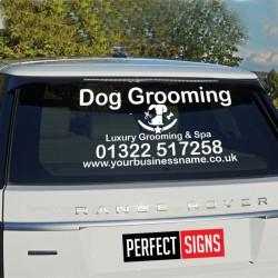 Rear Window Car Van Personalised Dog Grooming Business Decal Vinyl Signs Sticker