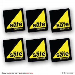 Gas Safe Small Stickers