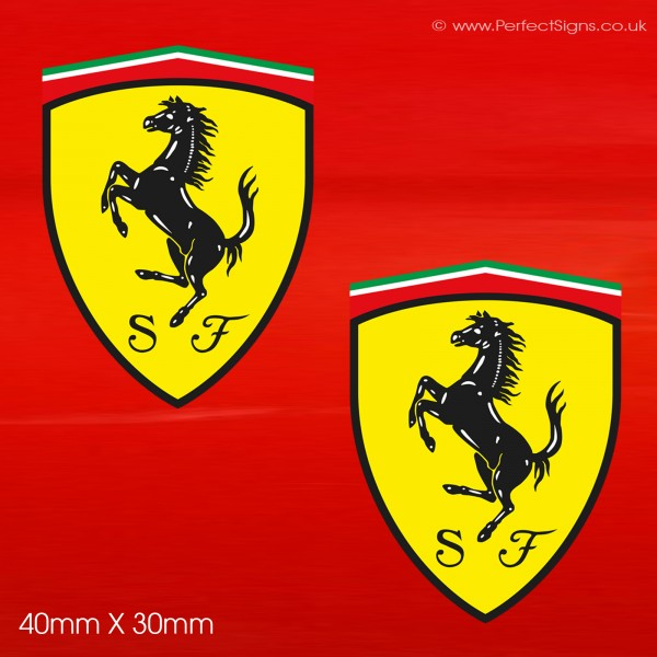 Ferrari Shield Small Stickers