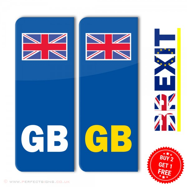 GB Union Jack Number Plate Stickers
