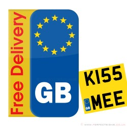 Euro GB Motorbike Number Plate Sticker