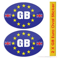 GB Euro Oval Stickers