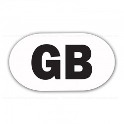GB White and Black Sticker