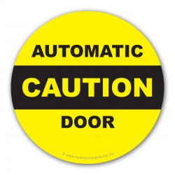 Caution Automatic Door Stickers X